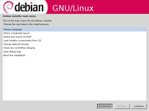Инсталлятор Debian: теперь в графике