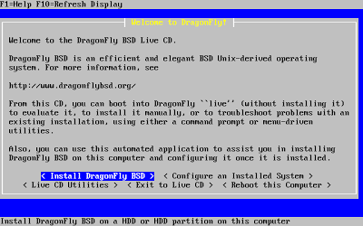 DragonFlyBSD: Установка и первичная настройка