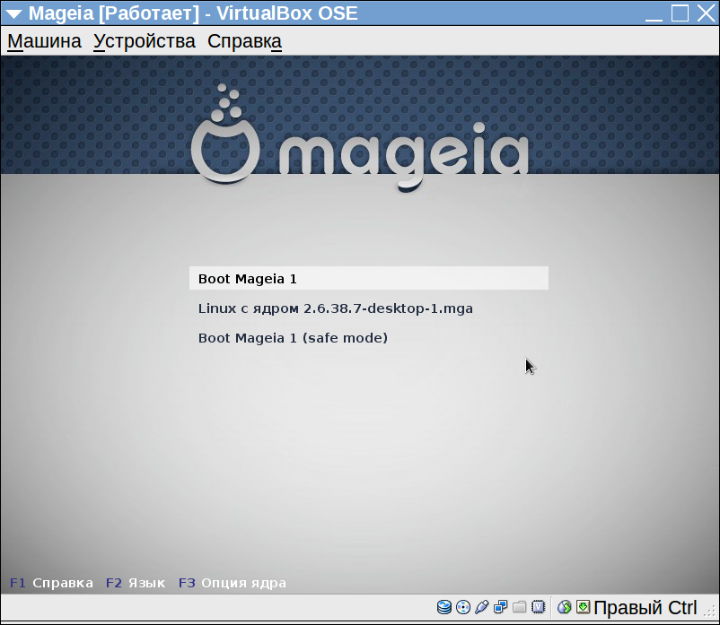 Mageia. Первая загрузка